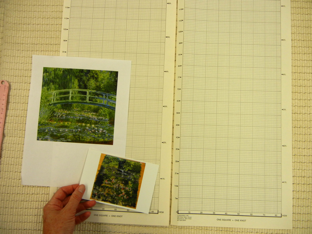 Monet-4preparing the graph paper