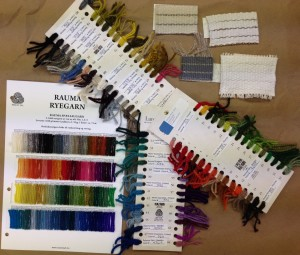 Rya yarn samples-rauma and Lundgren