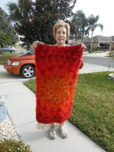 Nancy from Florida just completed a rya rug started by her mother decades ago.