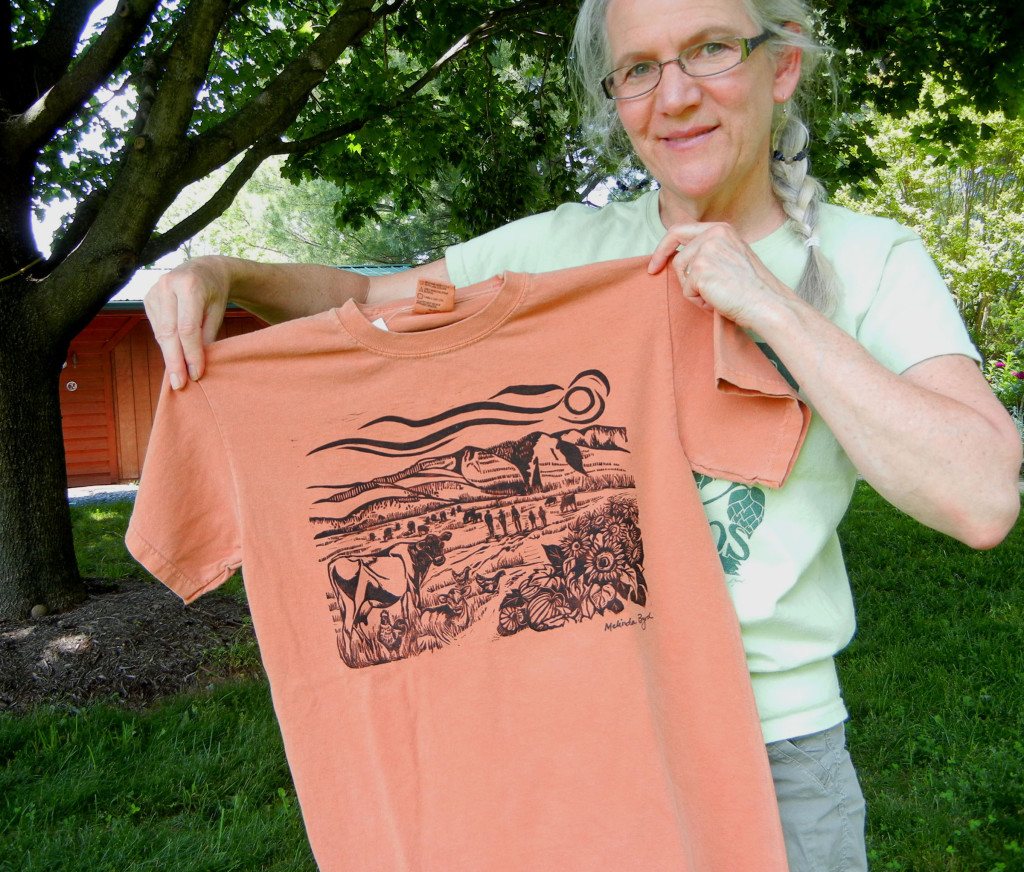 Melinda holding new shirt design - Copy