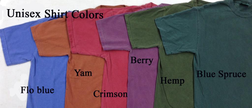 unisex shirt colors copy