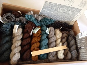 "Here is the kit ""Vinter"" ordered by prolific rya rug-maker, Murray, from Novi, Michigan."