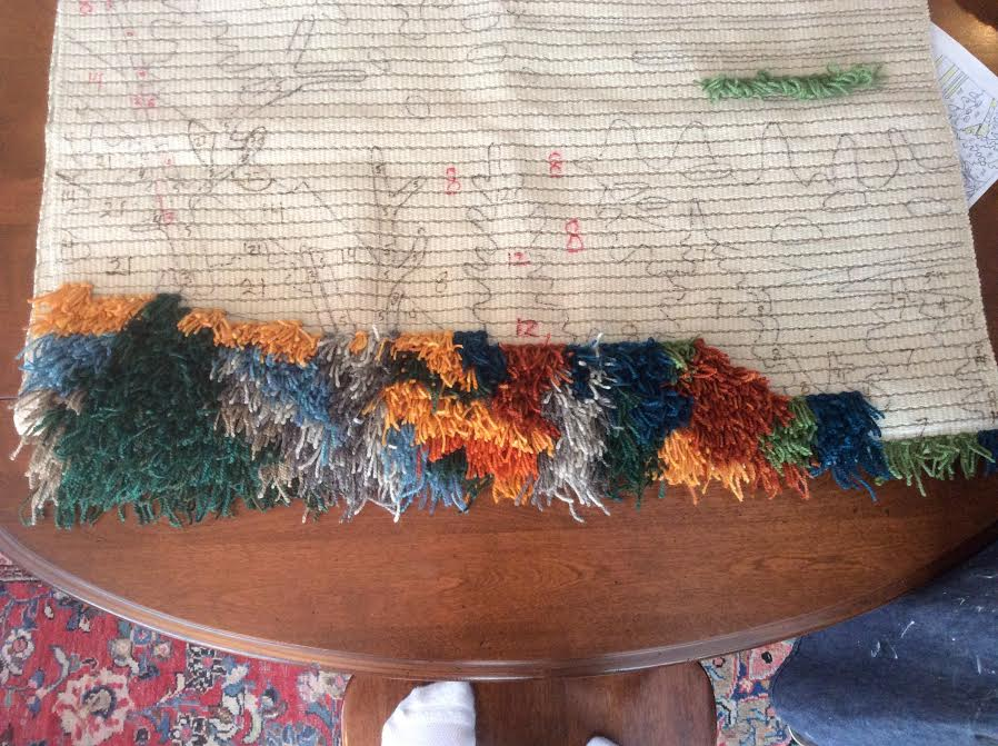 Rug in progress 1-21-16