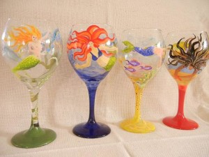 Mermaid Wine Glass Set
