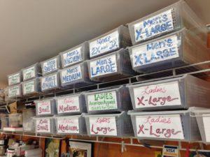 bins reorganized